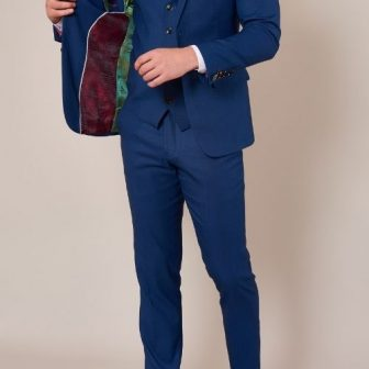Marc Darcy Danny Royal Blue 3 Piece Suit