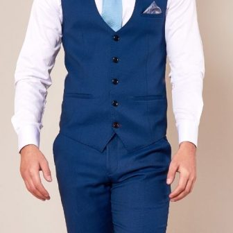 Marc Darcy Danny Royal Blue Waistcoat