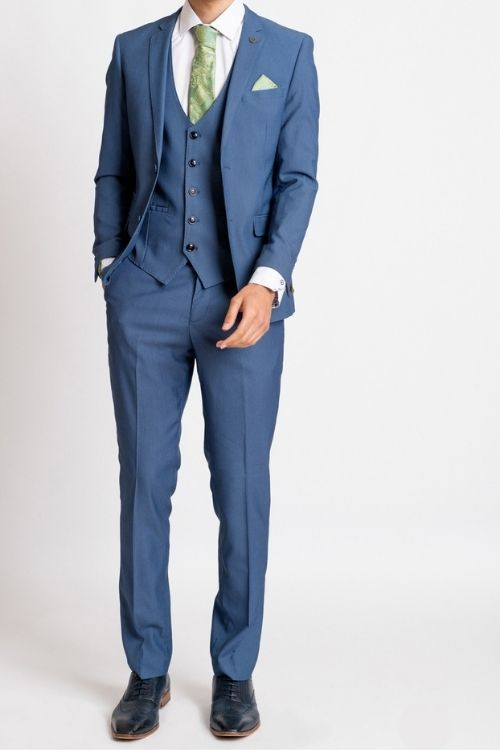 Marc Darcy Danny Sky Blue 3 Piece Suit
