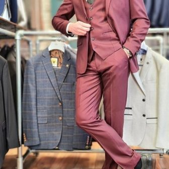 Marc Darcy – Danny Wine 3 Piece Suit