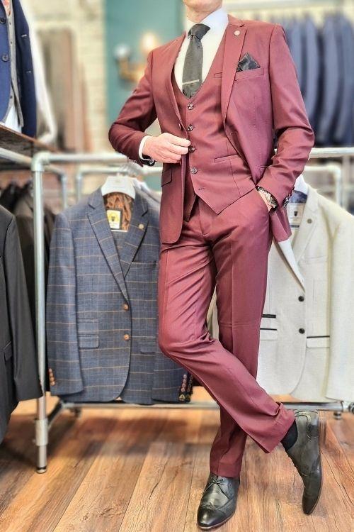 Marc Darcy – Danny Wine 3 Piece Suit