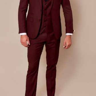 Marc Darcy Danny Wine 3 Piece Suit