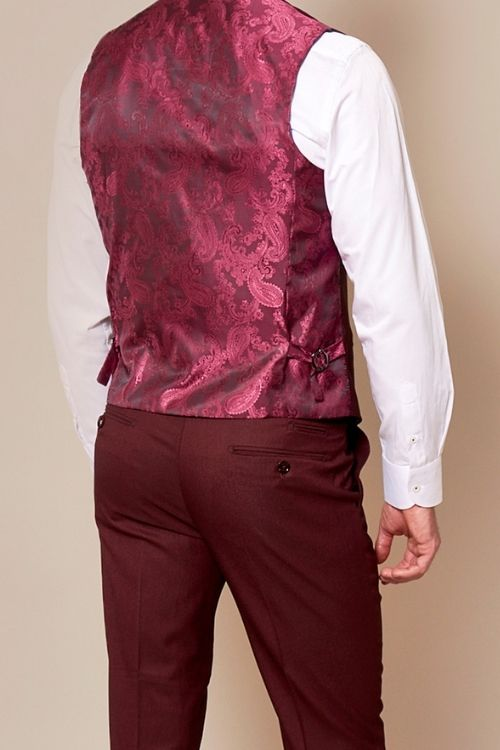 Marc Darcy Danny Wine Waistcoat (1)