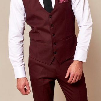 Marc Darcy Danny Wine Waistcoat