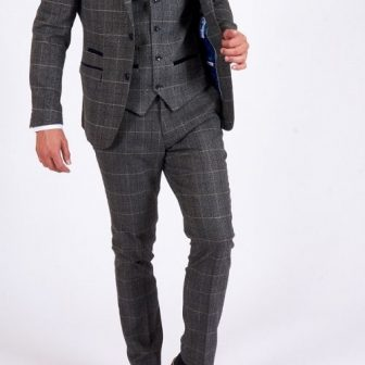 Marc Darcy Scott Grey 3 Piece Suit (1)