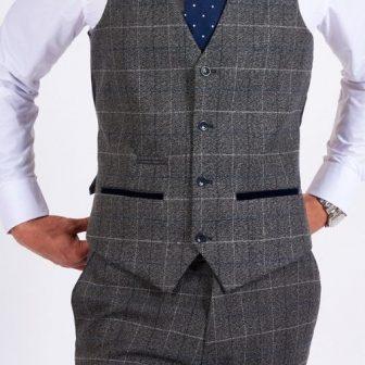 Marc Darcy Scott Grey Waistcoat