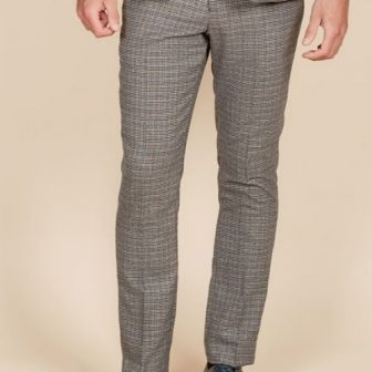 Marc Darcy – Hardwick Blue and Tan Check Tweed Trouser