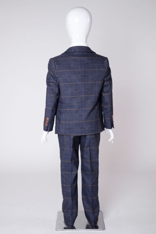 Marc Darcy - Childrens Jenson Marine Blue Suit 3 piece