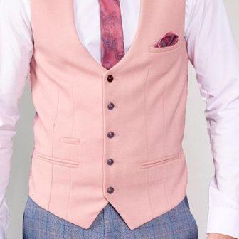 Marc Darcy - Kelvin Pink Single Breasted Waistcoat