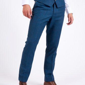 Marc Darcy – Dion Blue Tweed Check Three Piece Suit